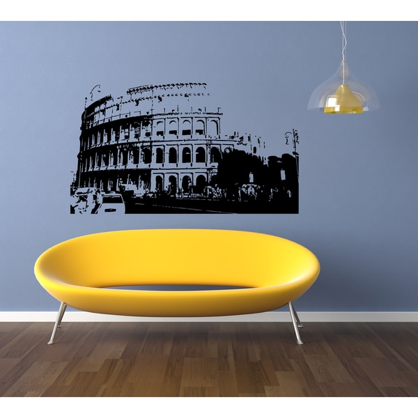 Rome Skyline City Sights History Old Wall Art Sticker Decal - Free ...