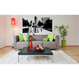 Indianapolis City House River Alley Wall Art Sticker Decal