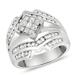 Eloquence 14k White Gold 1ct TDW Diamond Fashion Ring