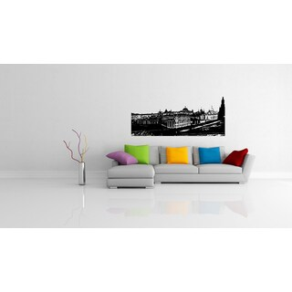 Moscow Skyline City Prospect Street Wall Art Sticker Decal