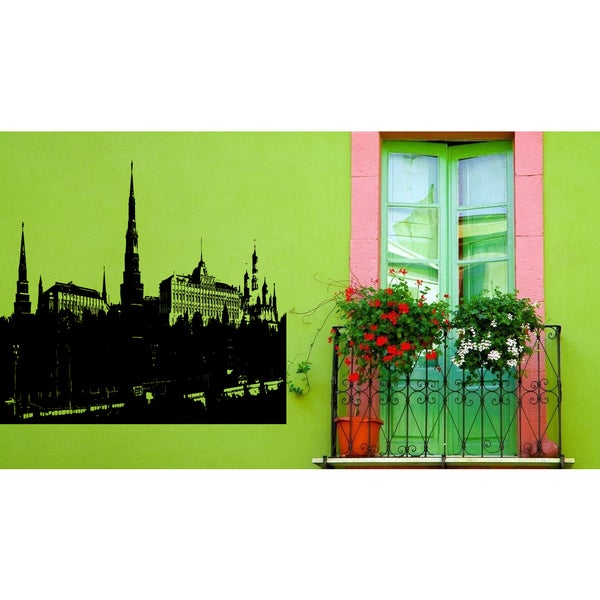 Moscow Skyline City Kremlin Wall Art Sticker Decal