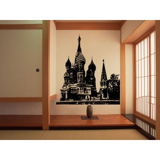 Moscow Skyline City St. Basil's Cathedral Russia Wall Art Sticker Decal