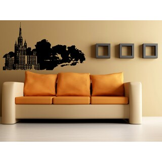Moscow Skyline City Beautiful Building Wall Art Sticker Decal