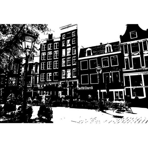 Amsterdam city Prospect Street Wall Art Sticker Decal