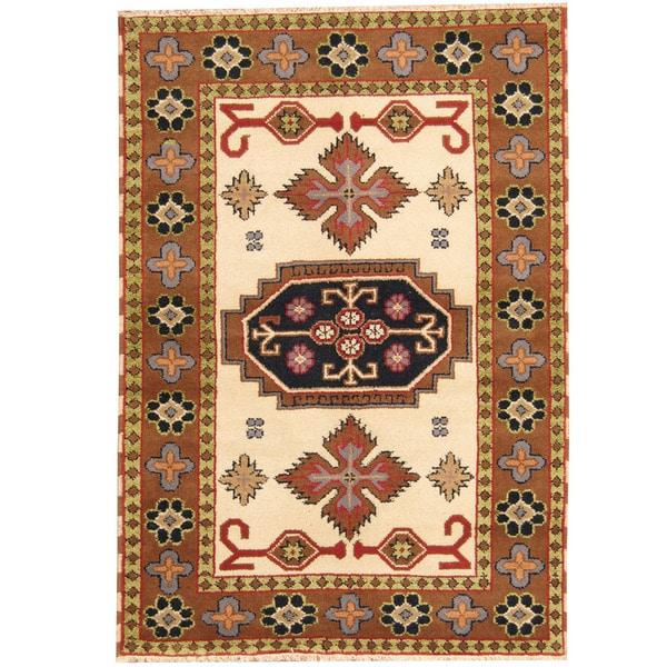 Shop Handmade Herat Oriental Indo Tribal Kazak Wool Rug