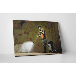 Banksy 'Power Washer' Gallery Wrapped Canvas Wall Art