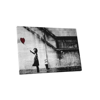 Banksy 'Girl with Balloon' Gallery Wrapped Canvas Wall Art