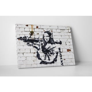 Banksy 'Mona Lisa with Bazooka' Gallery Wrapped Canvas Wall Art