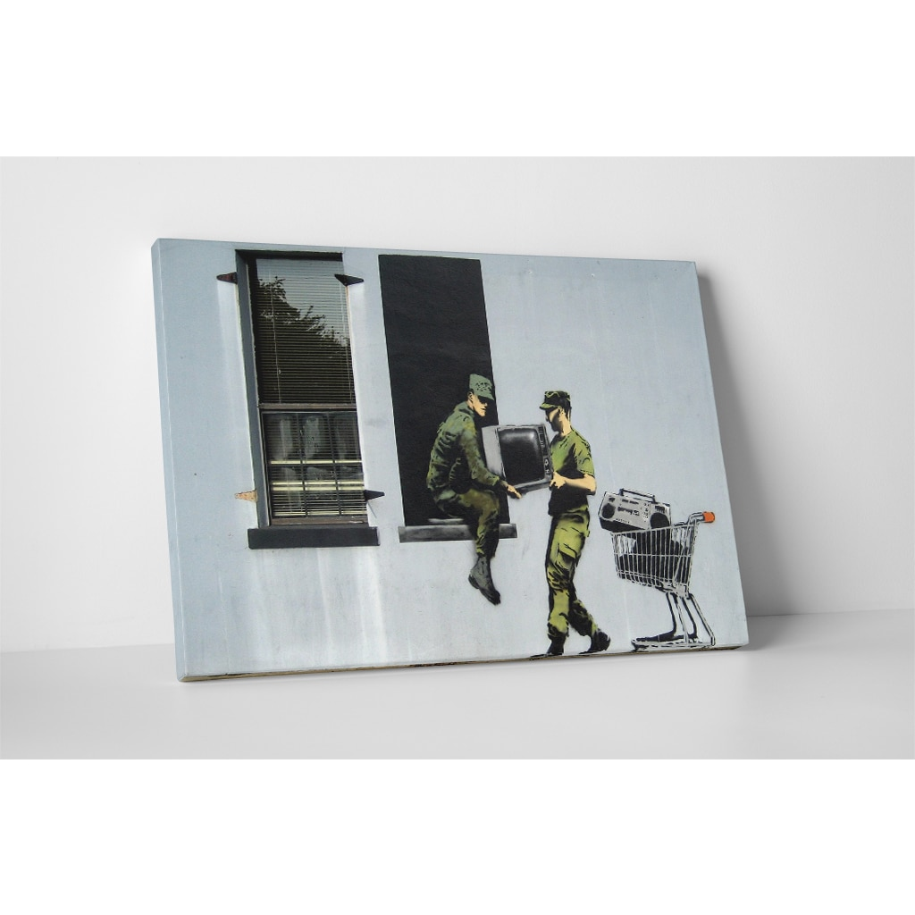 Banksy 'Looting Soldiers' Gallery Wrapped Canvas Wall Art...