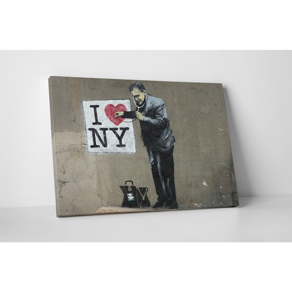 Shop Banksy \'I Love New York\' Gallery Wrapped Canvas Wall Art - Free ...