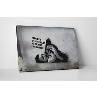 Banksy 'When I Grow Up' Gallery Wrapped Canvas Wall Art