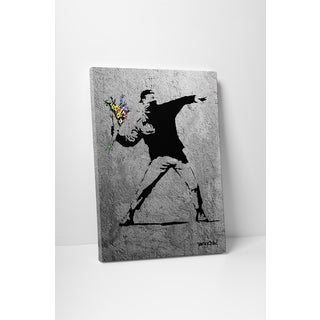 Banksy 'Anarchist and Mom' Gallery Wrapped Canvas Wall Art