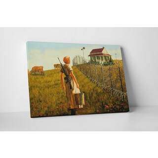 Banksy 'Fenced House on the Prairie' Gallery Wrapped Canvas Wall Art