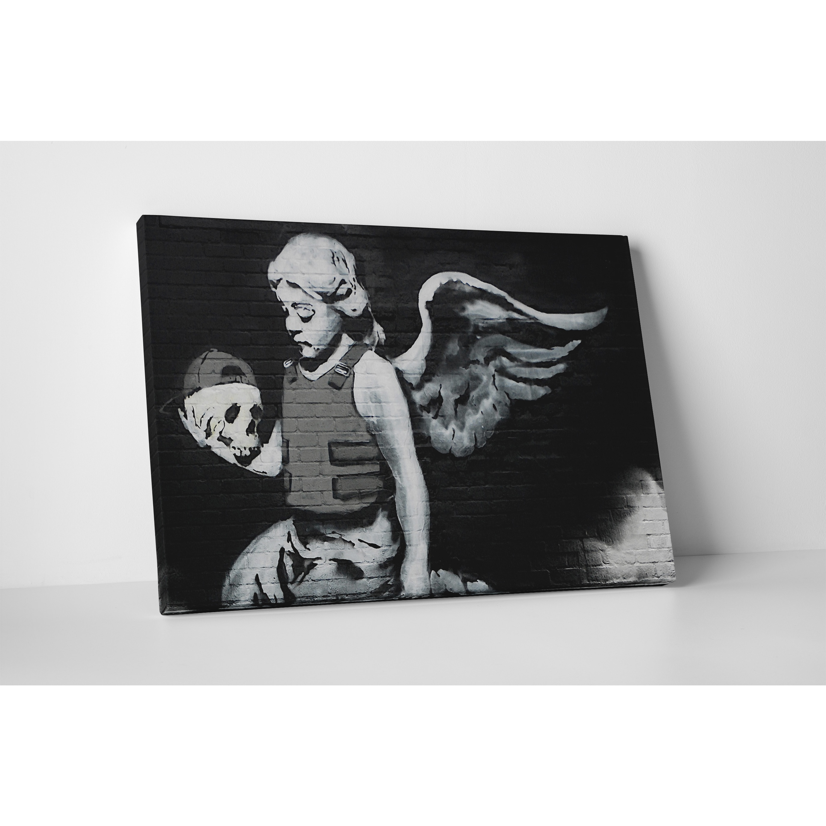 Banksy 'Body Armor Angel with Skull' Gallery Wrapped Canv...