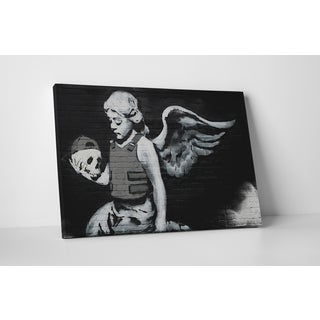 Banksy 'Body Armor Angel with Skull' Gallery Wrapped Canvas Wall Art