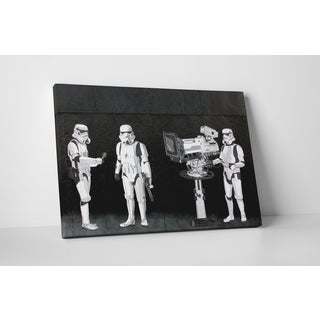 Banksy 'Stormtroopers Filming the Oscars' Gallery Wrapped Canvas Wall Art