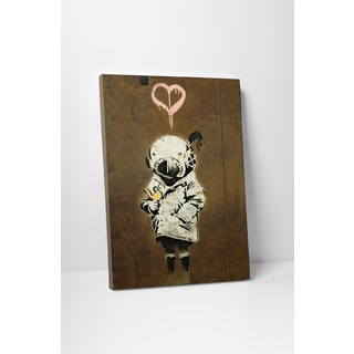 Banksy 'Girl in Space' Gallery Wrapped Canvas Wall Art