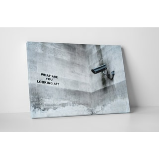 Banksy 'What Are You Looking At?' Gallery Wrapped Canvas Wall Art
