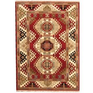 Herat Oriental Indo Hand-knotted Tribal Kazak Wool Rug (5'7 x 7'9)