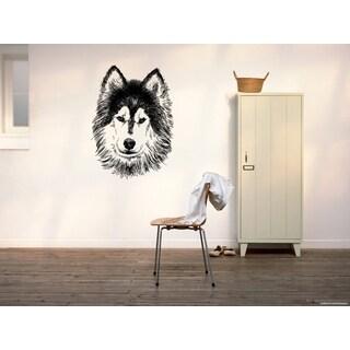 Siberian Husky Dog Muzzle Wall Art Sticker Decal