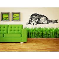 Siberian Husky Dog Dedicated Wall Art Sticker Decal