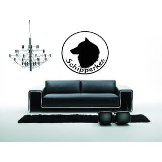 Schipperke Dog Profile Wall Art Sticker Decal