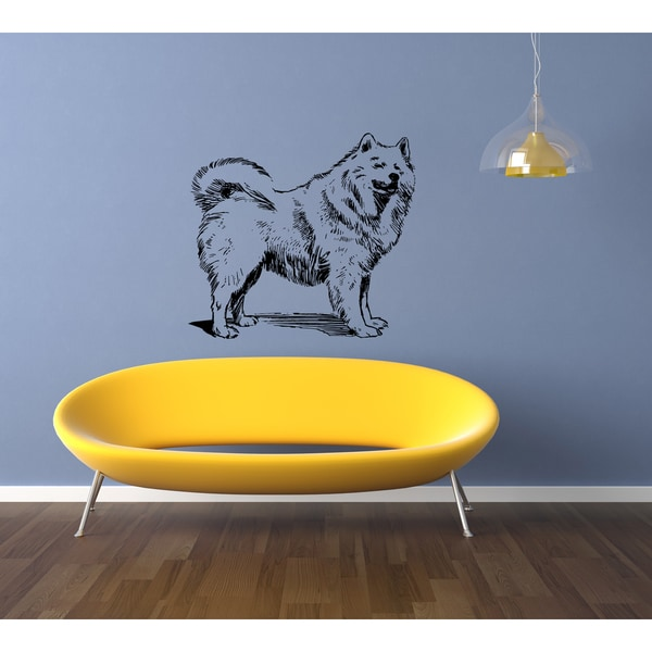 Shop Samoyed Dog Exhibition Wall Art Sticker Decal - Free Shipping ...