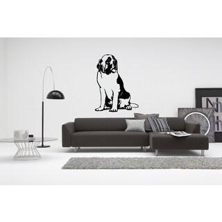 Saint Bernard Dog looker Wall Art Sticker Decal