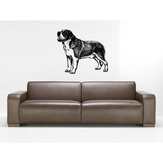 Saint Bernard Dog Wall Art Sticker Decal