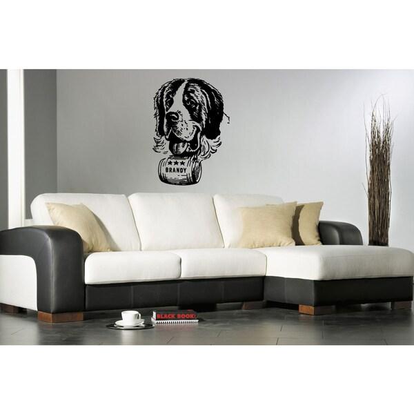 Saint Bernard Dog Brandy Wall Art Sticker Decal