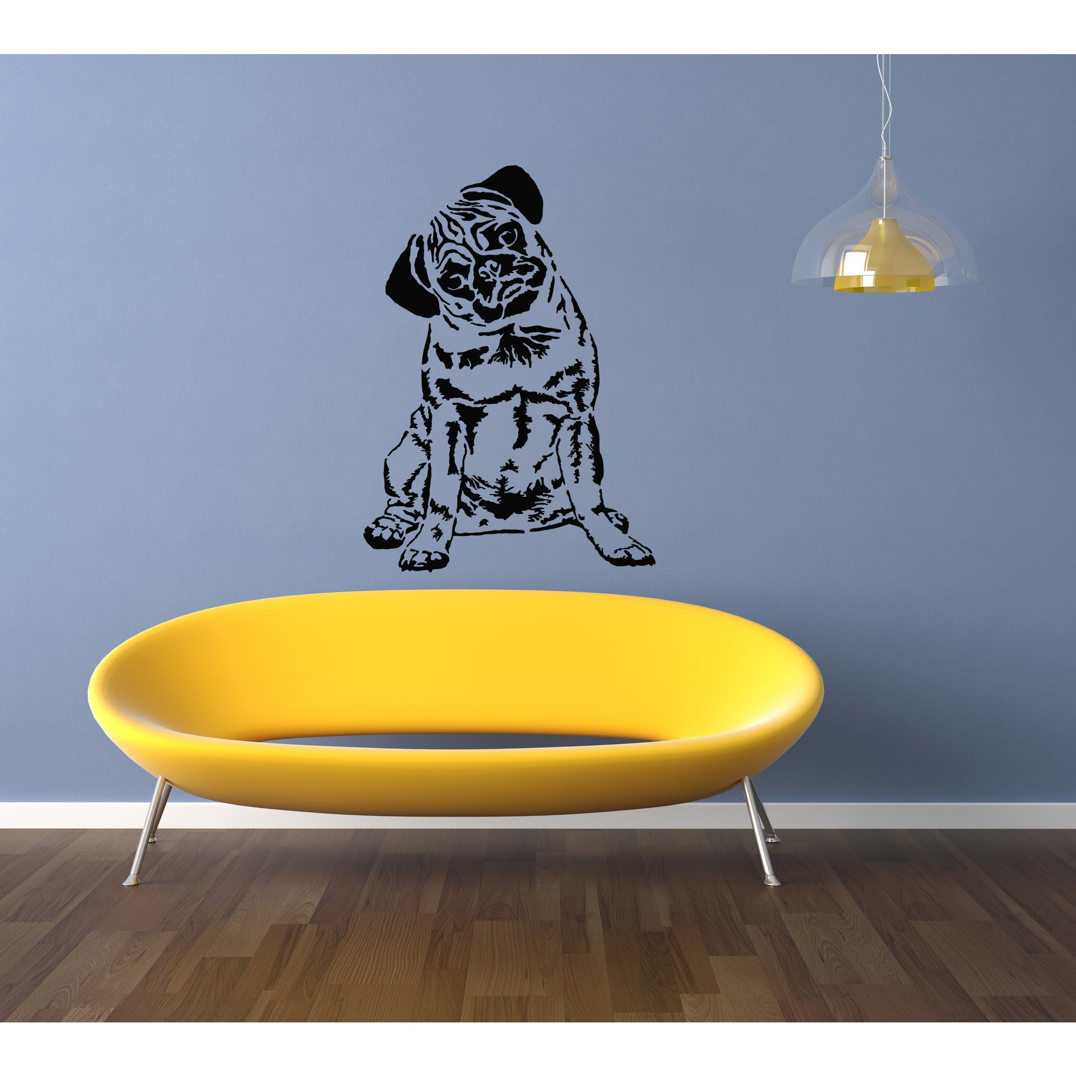 Pug Dog Puppy Breed Pet Wall Art Sticker Decal | eBay