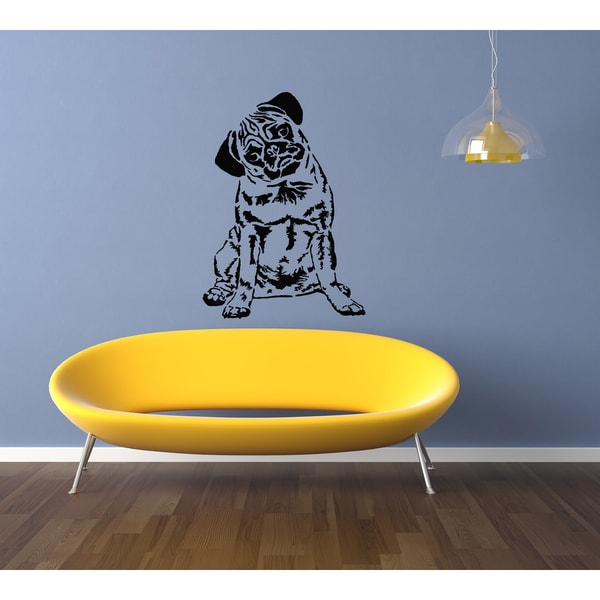 00a653cce1e Shop Pug Dog Puppy Breed Pet Wall Art Sticker Decal - Free Shipping On  Orders Over  45 - Overstock - 11342159