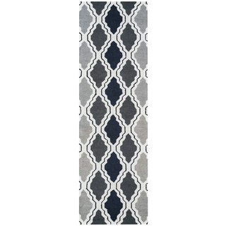 Rizzy Home Country Collection Multicolored Trellis Runner Rug (2'6 x 8')