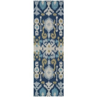 Rizzy Home Country Collection Multicolored Runner Rug (2'6 x 8')