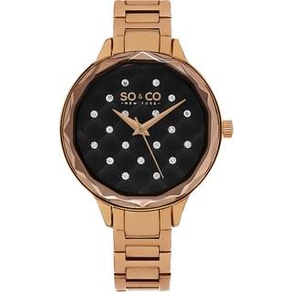 SO&CO New York Women's Madison Quartz Rosetone Bracelet Crystal Watch