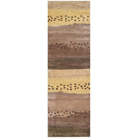 "Rizzy Home Mojave Collection Beige Hand-tufted Wool Runner Rug (2'6 x 8') - 2'6"" x 8'"
