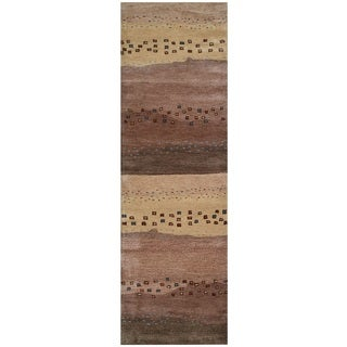 Rizzy Home Mojave Collection Beige Hand-tufted Wool Runner Rug (2'6 x 8')