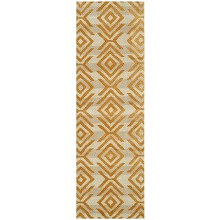 Rizzy Home Gillespie Avenue Beige Hand-tufted Wool Accent Rug (2'6 x 8')