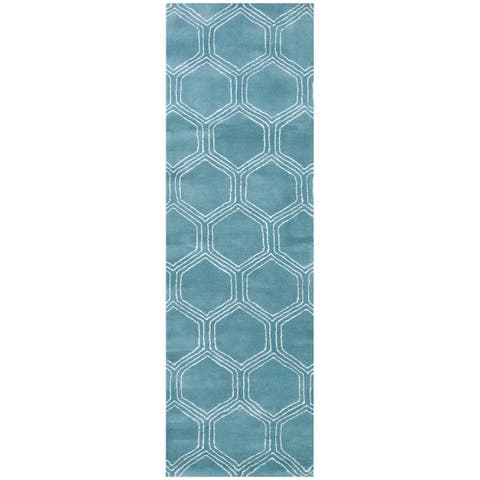 Rizzy Home Gillespie Avenue Hand-tufted Wool Accent Runner Rug (2'6 x 8')