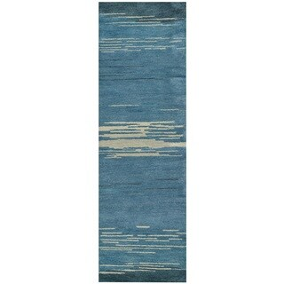 Rizzy Home Mojave Collection Hand-tufted Wool Runner Rug (2'6 x 8')
