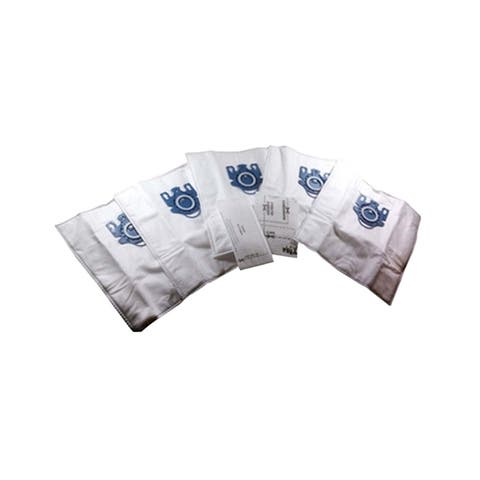 5pk Replacement GN Deluxe Cloth Bags & 2 Filters, Fits Miele Olympus Vacuums, Compatible with Part 7189520