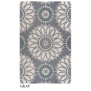Rizzy Home Azzura Hill Collection Multicolored Feather Area Rug - 3'6 x 5'6 (2 options available)
