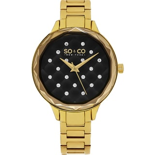 SO&CO New York Women's Madison Quartz Goldtone Bracelet Crystal Watch