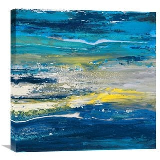 Global Gallery Lucas 'In volo sul mare II' Stretched Canvas Artwork