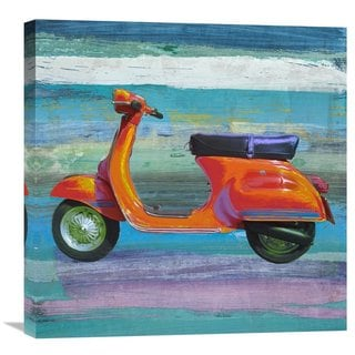 Global Gallery Teo Rizzardi 'Pop Scooter II' Stretched Canvas Artwork