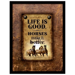 Dexsa Simple Expressions Life Is Good Framed Plaque
