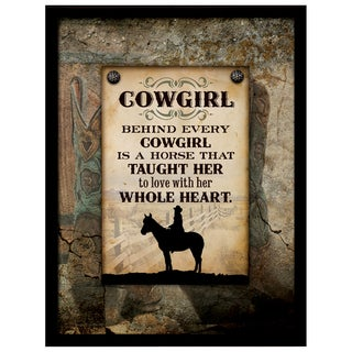 Dexsa Simple Expressions Cowgirl Framed Plaque