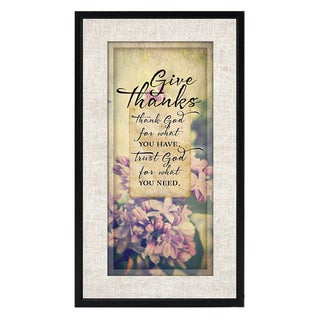 Dexsa Simple Expressions Give Thanks Framed Plaque