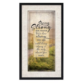 Dexsa Simple Expressions Being Strong Framed Plaque