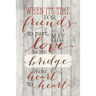 Dexsa When It's Time For Friends New Horizons Wood Plaque with Easel